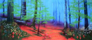 Enchanted Forest with Pink Floor