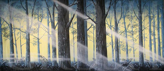 Fern Forest with Light Backdrop Projection