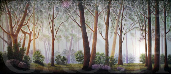 Spring Forest Backdrop Projection