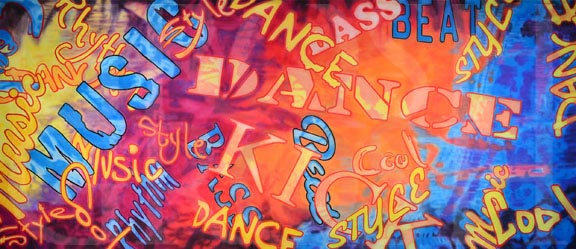 Hip Hop Dance Montage Backdrop Projection Dance