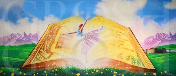 Ballet Dancer Storybook Backdrop Projection - Dance