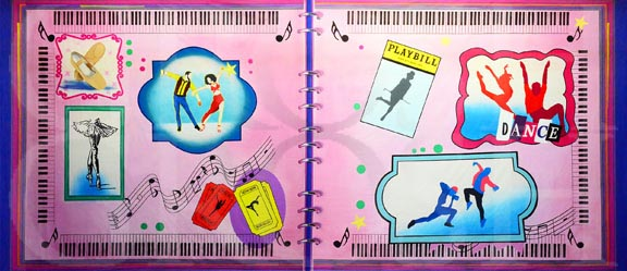 Dancers Scrapbook Backdrop Projection - Dance