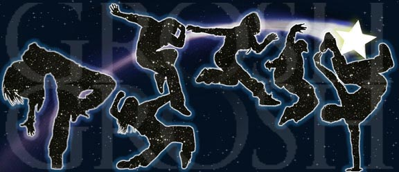 Dancing with the Stars Hip Hop Backdrop Projection - Dance