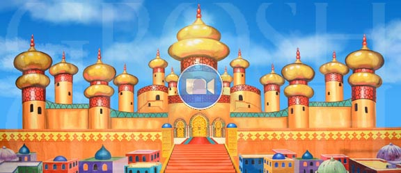 Aladdin Animated Backdrop Projections