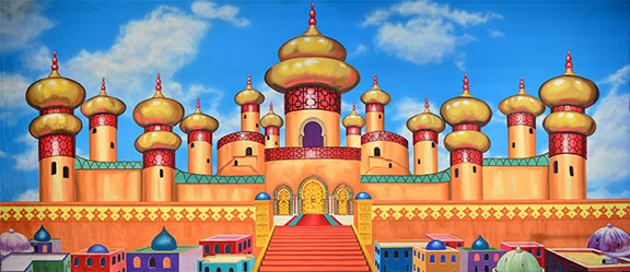 Aladdin Palace Exterior Backdrop Projection