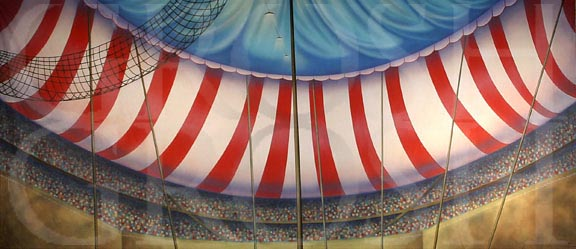 Annie Get Your Gun Circus Tent Interior Backdrop Projection