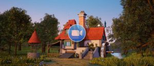 Beauty and the Beast Animation Country Cottage