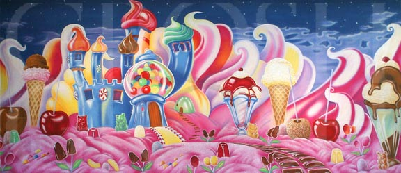 Charlie and the Chocolate Factory Candyland Backdrop Projection