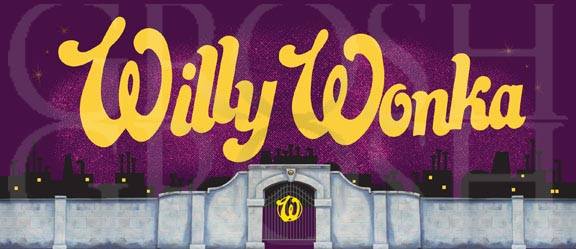 Charlie and the Chocolate Factory Willy Wonka Show Curtain Backdrop Projection