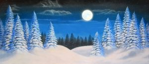 Christmas Carol night snow landscape 3