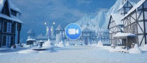 Frozen Animation Wintertime in the Village