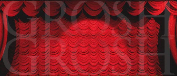 Hairspray Red Austrian Puff Backdrop Projection