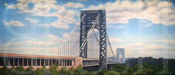 In the Heights George Washington Bridge Backdrop Projection