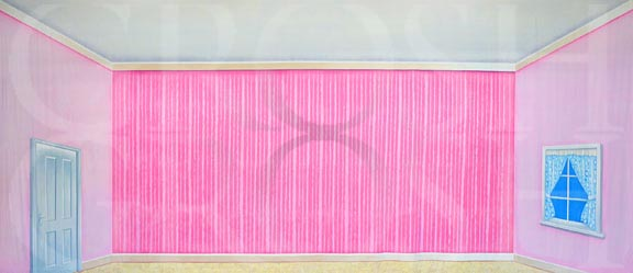 Legally Blonde pink interior bedroom backdrop projection