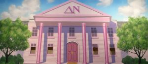 Legally Blonde sorority house exterior