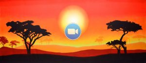 Lion King Animation African Sunset
