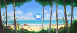 Madagascar Animation Tropical Beach with Jungle