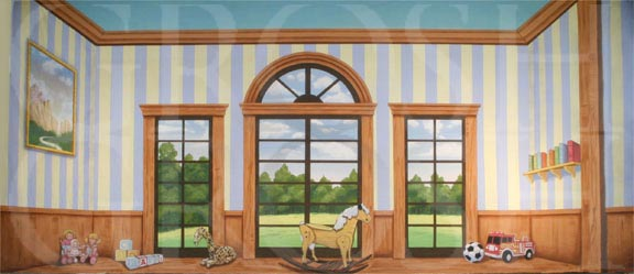 Mary Poppins Children's Room Backdrop Projection