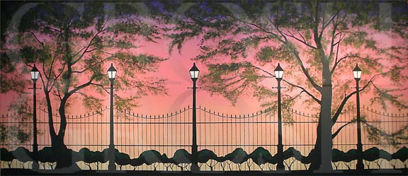 Mary Poppins Park at Sunset Backdrop Projections