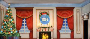 Nutcracker Animation Victorian Parlor with Christmas Tree