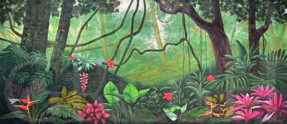 Peter Pan Lush Jungle Backdrop Projection