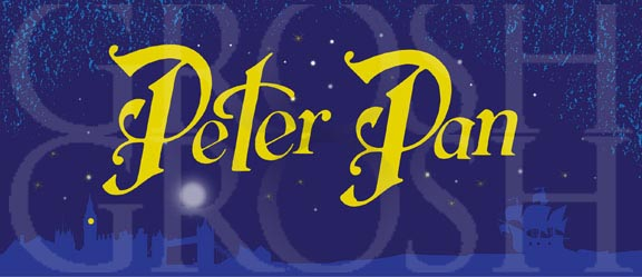 Peter Pan Title Curtain Backdrop Projection