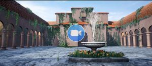 Sound of Music Animation Courtyard with Fountain