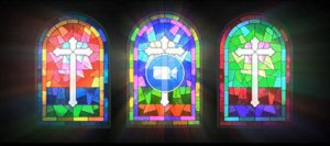 Sound of Music Animation Stained Glass Window