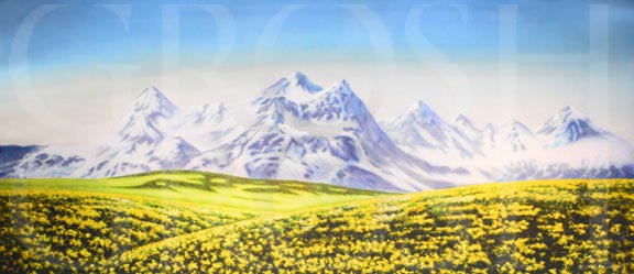 Sound of Music Swiss Alps Backdrop Projection