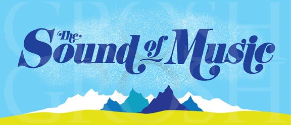 Sound of Music Title Curtain Backdrop Projection