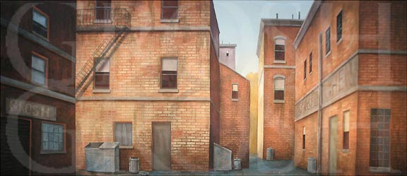 West Side Story Back Alley Backdrop Projection