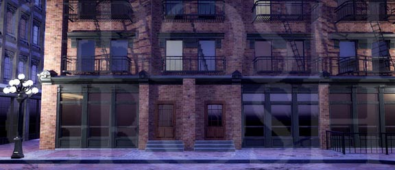 West Side Story City Apartments Backdrop Projection
