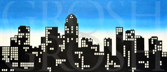 West Side Story New York Skyline Silhouette Backdrop Projection