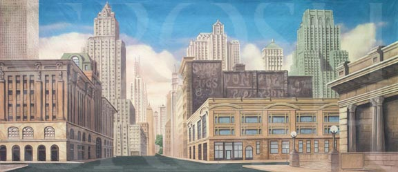 West Side Story New York Street Backdrop Projection