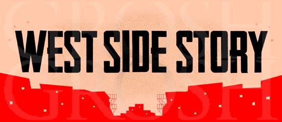 West Side Story Show Curtain Backdrop Projection