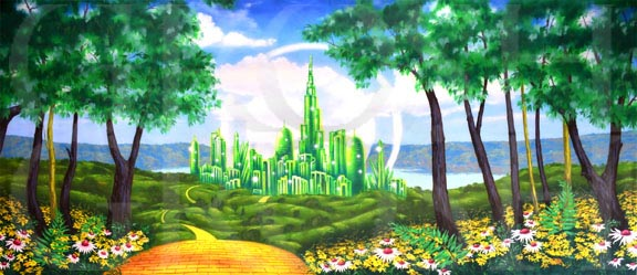 Wizard of Oz Emerald City Castle Backdrop Projection