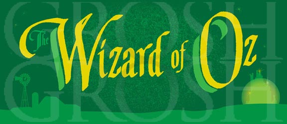Wizard of Oz Show Curtain  Backdrop Projection